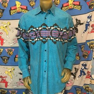 Vintage Faded Roper Western Button Up Shirt XL